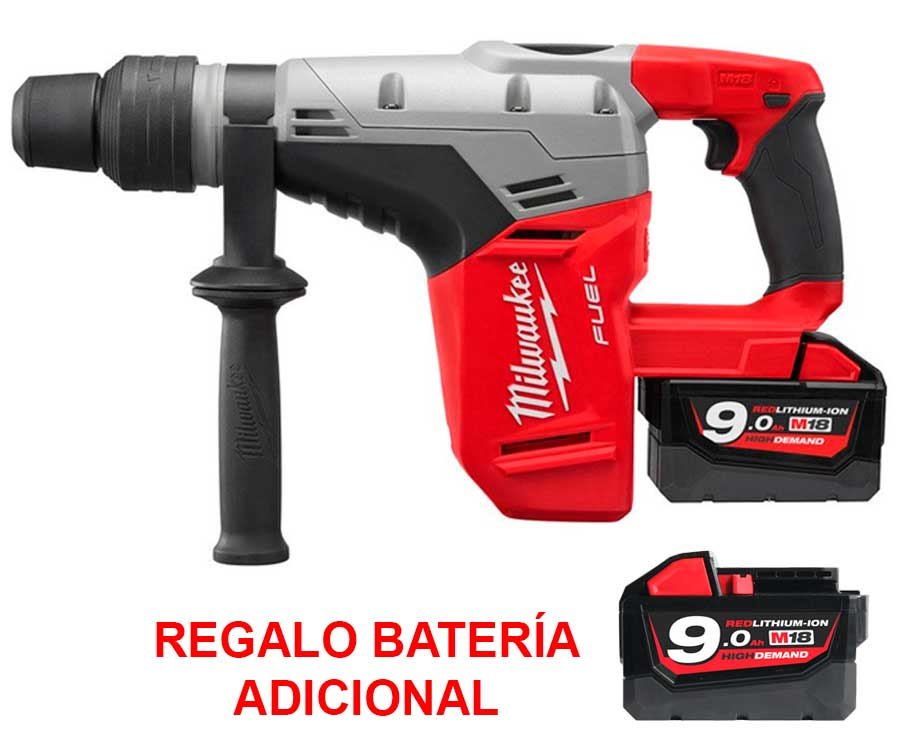 M18 CHM-902C + M18 B9 - MARTILLO COMBINADO A BATERÍA SDS-MAX + Batería M18 B9 Batería RED LITHIUM-ION 18V – 9,0 Ah Alta demanda